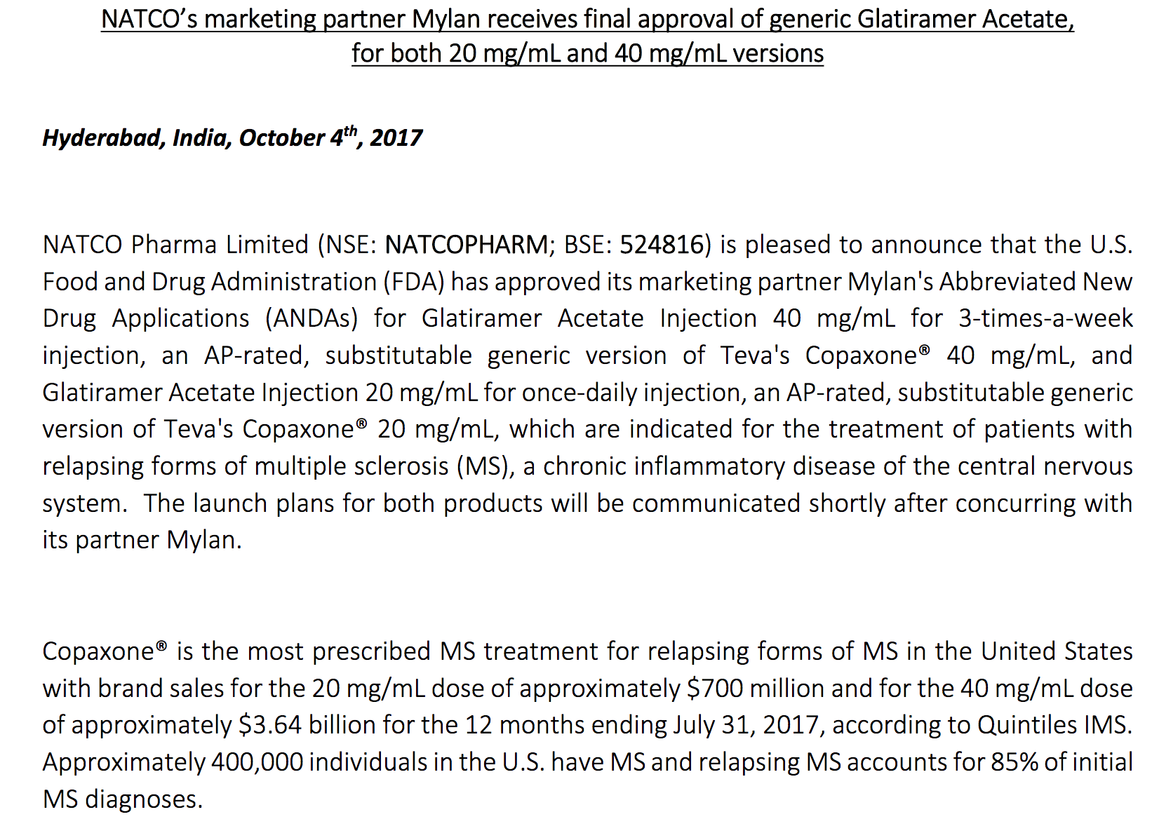 Natco Pharma: Focusing On Complex Products - Not-so-Hidden